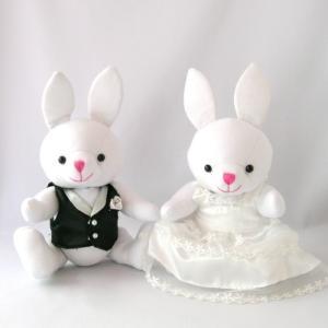 トス用ぬいぐるみ ホワイトラビット ベスト&ドレス付き ぬいぐるみ|chiko-mori