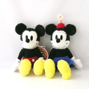 やさしい風合いのぬいぐるみシリーズ、「MY PICTURE」から、 ミッキーとミニーのぬいぐるみをペ...