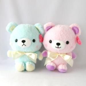 トス用ぬいぐるみ コロンベア くま ぬいぐるみ ブルー&ピンク|chiko-mori