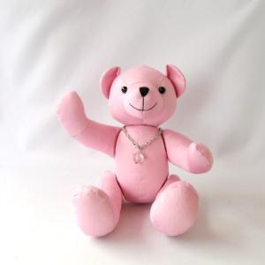 メッセージベア ピンク ぬいぐるみ 寄書きぬいぐるみ|chiko-mori
