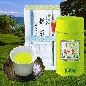八十八夜新茶 富嶽 2号缶|chikumei