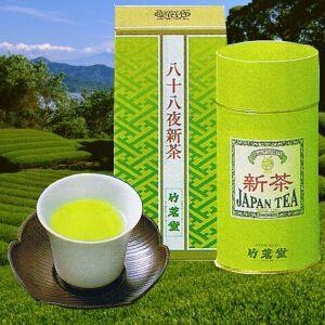 八十八夜新茶 初摘 1.5号缶|chikumei