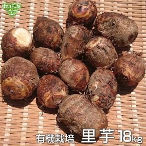 里芋 18kg 有機栽培 鹿児島県産 土付き さといも サトイモ 里いも オーガニック 無農薬 送料...