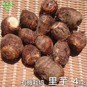 里芋 4kg 有機栽培 鹿児島県産 土付き さといも サトイモ 里いも オーガニック 無農薬 送料無...