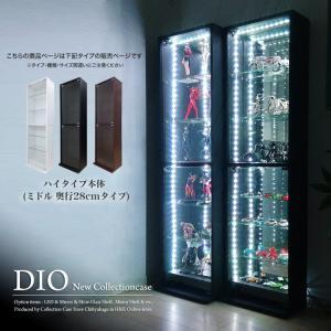 コレクションラック DIO ディオ 本体 ハイタイプ 鍵付 奥行28cmタイプ 中型