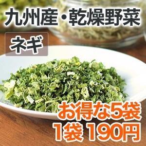 乾燥野菜 ネギ 5個セット 国産野菜  保存野菜|chikyuya