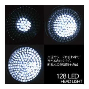 LEDヘッドライト LEDヘッドライト/LEDライト 夜釣り 最強 強力 明るい LED128灯|chikyuya|05