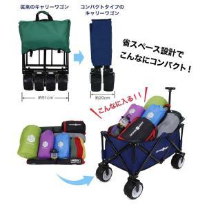 キャリーカート キャリーワゴン コンパクトタイプ 折りたたみ式 耐荷重80kg コンパクト アウトドア キャンプ CAMPING BUDDY|chikyuya|02
