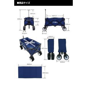 キャリーカート キャリーワゴン コンパクトタイプ 折りたたみ式 耐荷重80kg コンパクト アウトドア キャンプ CAMPING BUDDY|chikyuya|06