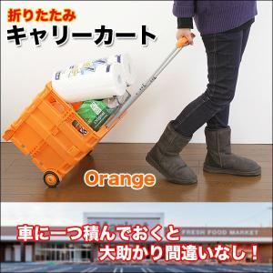 キャリーカート キャリーカート/折りたたみ 軽量 コンパクト 買い物 アウトドア|chikyuya|05