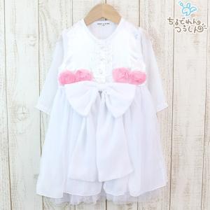 ベビー服 子供服 キッズ ドレス カバーオール ロンパース フォーマル 女の子 シフォン レース リボン Puff 2 KIDS 結婚式 誕生日 パーティー chil2