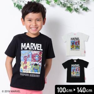 マーベル MARVEL キッズ 子供服 キャラクター コミック 半袖 Tシャツ 男の子 トップス 19夏 100 110 120 130 140cm|chil2