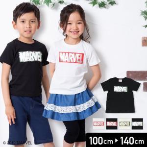 マーベル MARVEL キッズ 子供服 ロゴ 半袖 Tシャツ 男の子 トップス 19夏 100 110 120 130 140cm|chil2