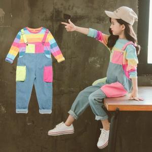 子供服 入学式 女の子 フォーマル スーツ キッズ セットアップ  トップス ボトムス フォーマル 子供 女の子 セットアップ キッズ サロペット デニム おしゃれ|childeco