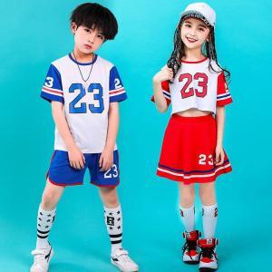 チアガール衣装 ダンス 衣装 男の子 女の子 チアダンス キッズダンス 子供 キッズ ダンス 衣装 セットアップ ダンスウェア コスプレ|childeco