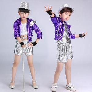 3点セットヒップホップ服 女の子 男の子用 舞台用 キッズ ヒップホップ衣装  ダンス衣装 子供用 ダンスウェアセット トップスセット|childeco