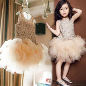 子供  ワンピース  キッズ  チュールワンピース  レース  ドレス  チュチュスカート 女の子  プリンセスライン  ジュニア ガールズ  演出 誕生日  袖なし|childeco