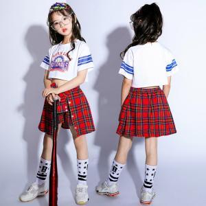子供 キッズ ダンスウェア 女の子 男の子 ダンス衣装 チアガール衣装  ヒップホップ衣装 上下セット ジュニア 発表会 チアダンス おしゃれ|childeco