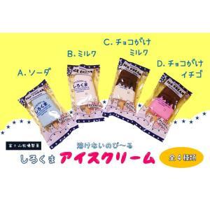 【クリックポスト対応】しろくまアイスクリーム/スクイーズ・全4種類