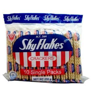 M.Y.San SKYFLAKES CRACKERS 方型 クラッカー 10Single Packs 250g