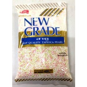 Mix Color タピオカパール(ミックス) 400g 多色小粒西米 NEW GRADE TOP QUALITY TAPIOCA PEARL