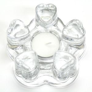 ポットウォーマー ティーウォーマー キャンドルウォーマー ガラス製 ハート型 保温 マグカップ 急須