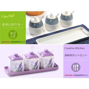 調味料入れ クリエイティブキッチン Creative Kitchen クオリティギフト調味料容器 調味料ポット収納 砂糖 塩 調味料 chinatsu