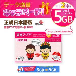 東南アジア周遊データ通信SIMカード(3GB+2GB/8日) タイ/ベトナム/マレーシア/シンガポー...