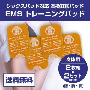 【代引・日時指定不可】SIXPAD Abs Fit対応 EMS互換交換パッド シックスパッド ジェルシート 2枚×2セット 腰 腕 脚 ボディー用