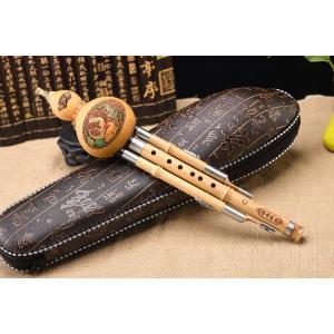 葫芦絲(フルス)は中国雲南省の少数民族の伝統民族楽器です。葫芦(ひょうたん)を共鳴箱にして、真ん中に...