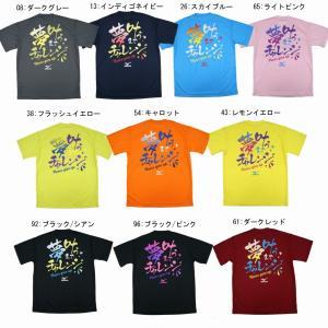 ミズノ 限定Tシャツ 夢叶うまで 62JA7Z52 オールスポーツ 文字入りTシャツ 部活Tシャツ ユニセックス 2017SS ゆうパケット(メール便)対応 メール便2点まで