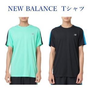 b2b2aee54899b ニューバランス NB HANZO ショートスリーブTシャツ AMT83062 メンズ 2018AW ランニング ゆうパケット(メール便)対応  2018新製品 ラッキーシール対応