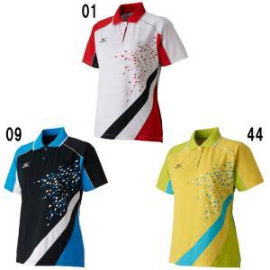 ミズノゲームシャツ ウィメンズ62JA7212バドミントン テニス ソフトテニス ウエア レディース MIZUNO 2017年春夏モデルゆうパケット(メール便)対応 取寄品|chispo