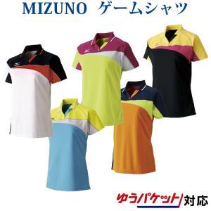 ミズノゲームシャツ ウィメンズ62JA7213バドミントン テニス ソフトテニス ウエア レディース MIZUNO 2017年春夏モデルゆうパケット(メール便)対応 取寄品|chispo