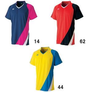 ミズノ ゲームシャツ 72MA6006 バドミントン テニス ウエア 半袖 ユニセックス 男女兼用 MIZUNO 2016年春夏モデル ゆうパケット対応 在庫品|chispo