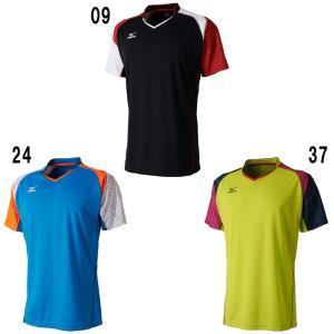 ミズノゲームシャツ72MA7003 バドミントン テニス ウエアメンズ ユニセックス ユニフォームMIZUNO 2017年春夏モデルゆうパケット(メール便)対応 在庫品|chispo