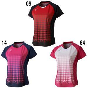 ミズノゲームシャツ ウィメンズ72MA7202バドミントン テニス ソフトテニス ウエア レディース MIZUNO 2017年春夏モデルゆうパケット(メール便)対応 在庫品|chispo