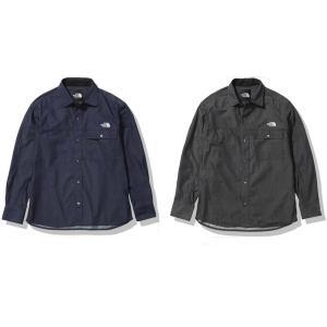 ノースフェイス ロングスリーブナイロンデニムヌプシシャツ メンズ NR72130 2021AW|chispo