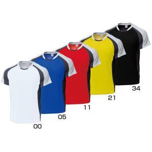 ウンドウバドミントンシャツ 110〜150cmP-3610-jrバトミントン 練習着 ウェア Tシャツ 半袖ジュニア 子供用 wundouゆうパケット(メール便)対応 取寄品|chispo