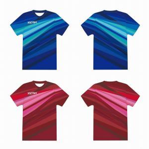 予約品 VICTAS VレプリカTシャツ 532112 卓球 Tシャツ 日本代表モデル 2021AW ゆうパケット(メール便)対応|chispo
