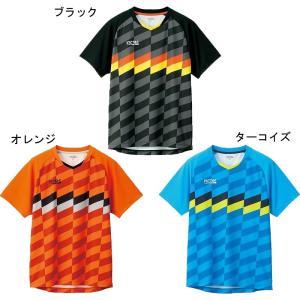 Victas チェッカーラインゲームシャツ 612111 2021AW 卓球 ユニセックス ゆうパケット(メール便)|chispo