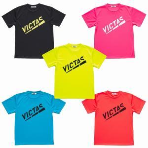 VICTAS ライジングプレイロゴティー 632072 ユニセックス 限定Tシャツ 卓球 VICTAS 2021SS|chispo