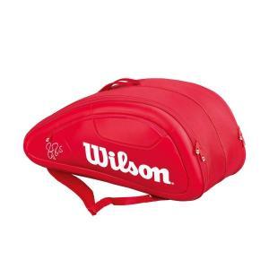 ウイルソン ラケットバッグ フェデラー DNA 12パック テニス12本用 WRZ830712 バドミントン テニス バッグ 収納Wilson 2017年春夏モデル 在庫品|chispo
