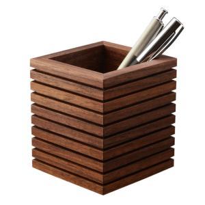 ペンスタンド ブラックウォールナット ライン シングル ペン立て 木製 ウォルナット 無垢 シンプル デザイン 高品質 上質 ギフト プレゼント 贈り物 社内 上司 chisui