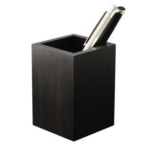 ペンスタンド 縞黒檀 ペン立て 筆立 木製 無垢 シンプル デザイン おしゃれ 雑貨 高品質 上質 ギフト プレゼント 贈り物 社内 上司 おすすめ chisui