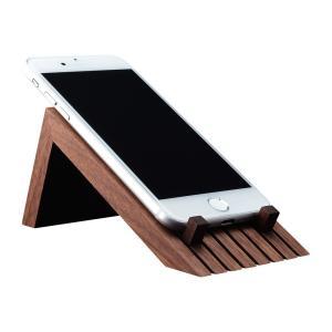 スマートフォンスタンド ブラックウォールナット ライン スマホスタンド スマホ台 木製 シンプル おしゃれ 雑貨 上質 プレゼント 贈り物 社内 上司|chisui