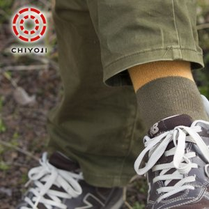 【日本製】【紳士靴下】リネン コットン の リシェ ツートン メンズ ソックス|chiyoji