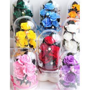 誕生日/古希/喜寿/米寿 /卒寿プリザーブドフラワー 8色の選べるカらー ドームアレンジ ケース入り|chloris-flower