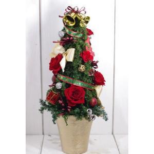 赤 クリスマスツリー プリザーブドフラワーツリー|chloris-flower