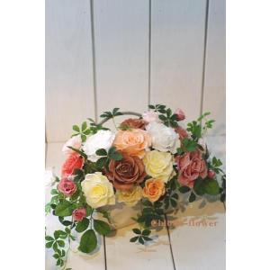 プリザーブドフラワー 薔薇いっぱいイングリッシュなローズガーデン |chloris-flower